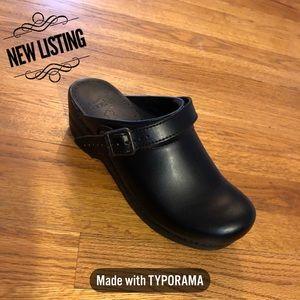 Dansko Ingrid Clog Black Leather Sz 39 (8.5-9 US)